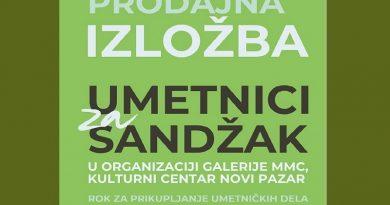 """Humanitarna prodajna izložba """"Umetnici za Sandžak"""""""